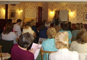 Alison addressing Seminar in 2006